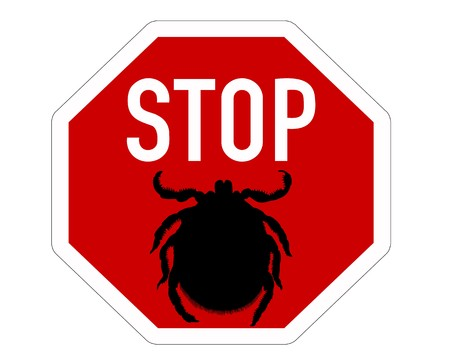 Stop sign for ticks Stock fotó
