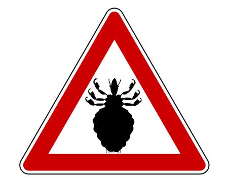 Louse warning sign