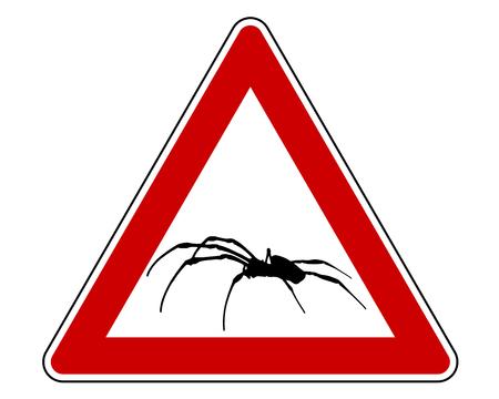 Spider warning sign Illustration