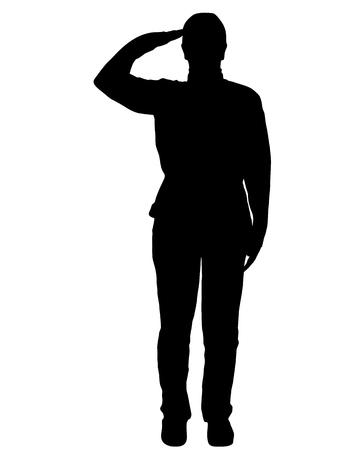 Military salute Ilustracja