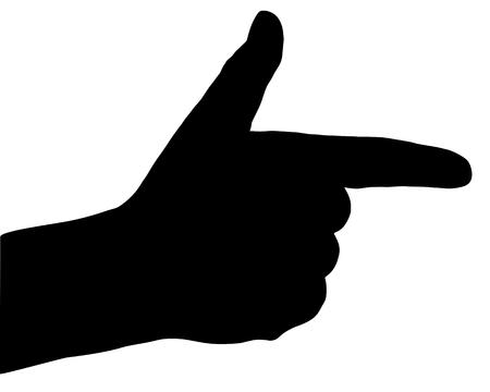 Finger signs Ilustração