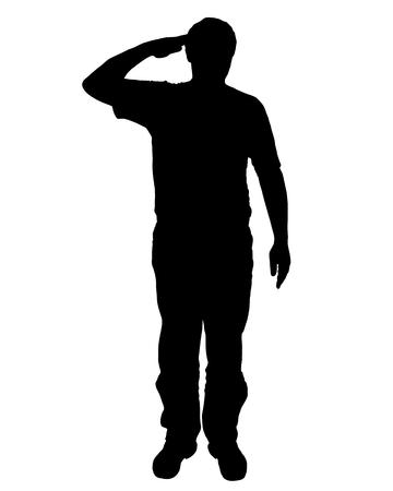 Militaire salute Stock Illustratie
