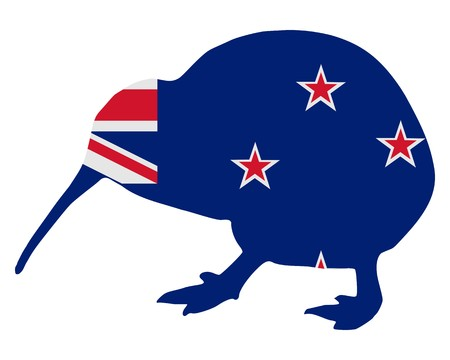 new zealand flag: New Zealand kiwi Stock Photo