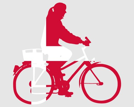 danish: Danish woman on bike
