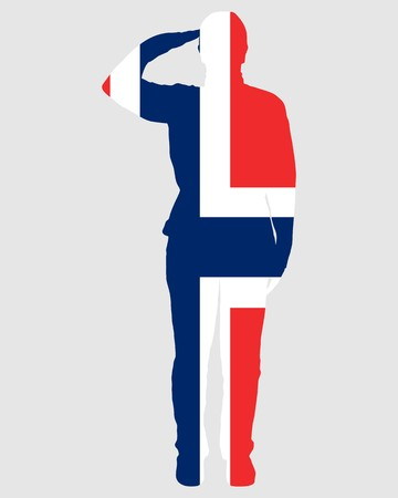 салют: Norwegian salute Иллюстрация