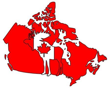 Canadian moose Vector