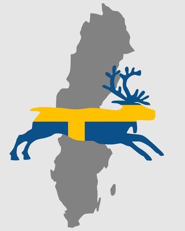swedish: Swedish reindeer Illustration