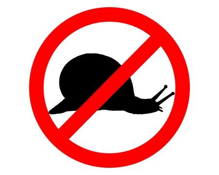 Prohibition sign for slugs Vector