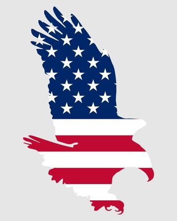 adler silhouette: American Fett eagle  Illustration