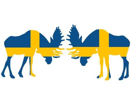 rutting: Rutting moose