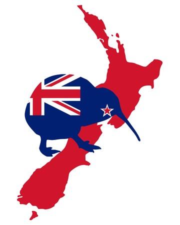 bandera de nueva zelanda: Kiwi de Nueva Zelanda