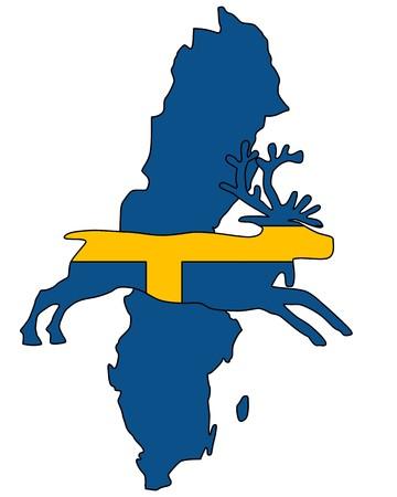 swedish: Swedish reindeer Stock Photo