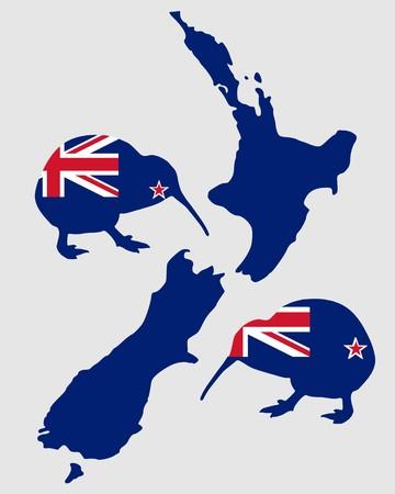 new zealand flag: New Zealands kiwi