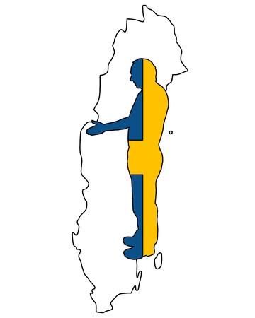 swedish: Swedish handshake Illustration