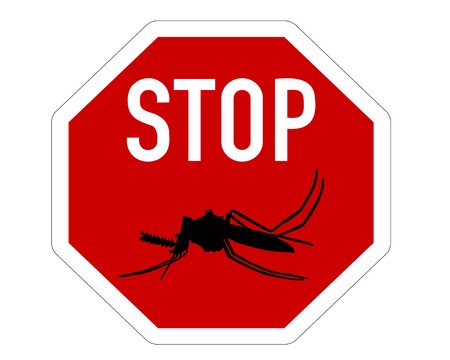 Stop sign for mosquitos Stock Vector - 7371939