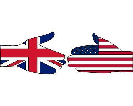 International handshake Vector