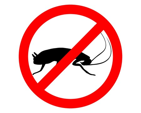 cockroach: Cockroach prohibition sign