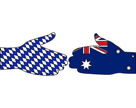 International handshake photo