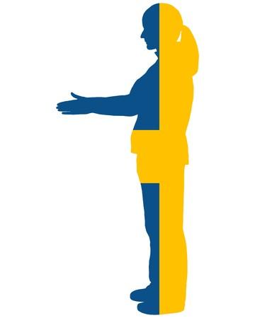 swedish: Swedish handshake Stock Photo