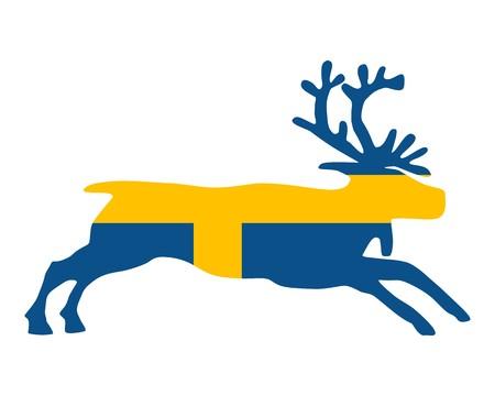 Swedish reindeer Illustration