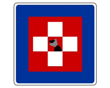 infirmary: Traffic sign for dogs