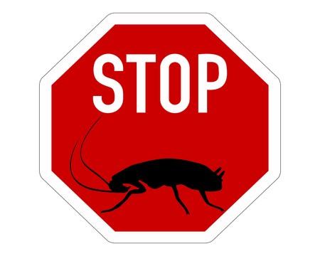 Cockroach stop sign Stock Vector - 7740889