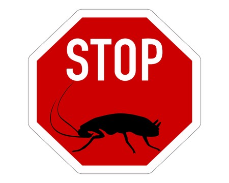 Cockroach stop sign Stock Vector - 7740889