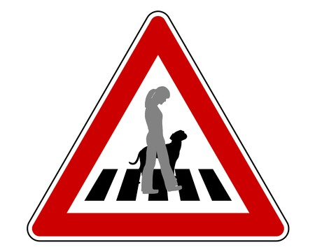 Traffic sign for dogs Stock Vector - 7822214