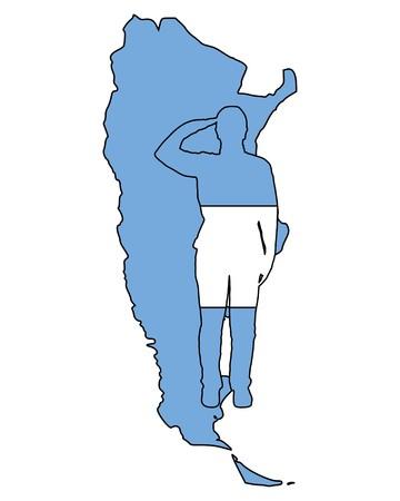 салют: Argentinian salute Иллюстрация