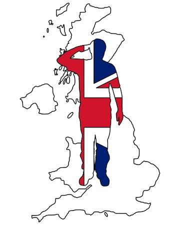 салют: British Salute Иллюстрация