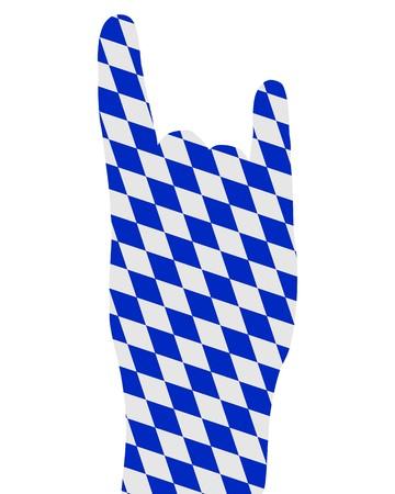 Bavarian finger signal Vector