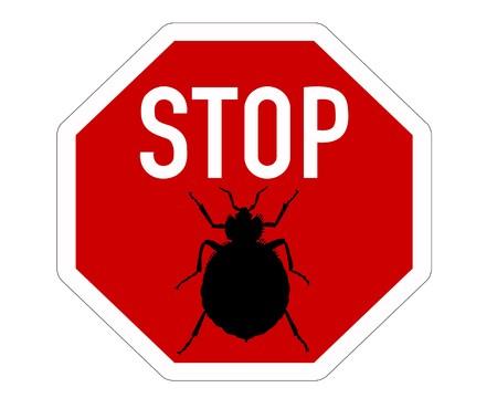 トコジラミのため一時停止の標識