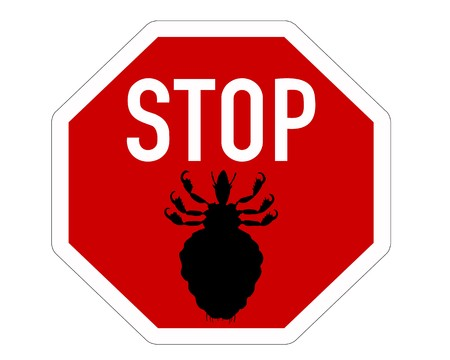 Stop sign for lice Illustration
