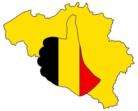 Belgian hand signal photo