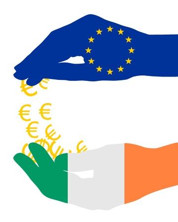 European financial aid for Ireland photo