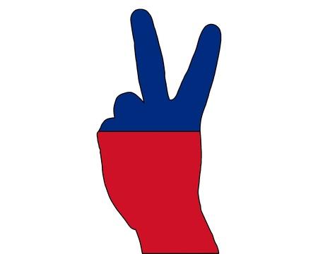 Liechtenstein hand signal Banco de Imagens
