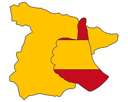 Spanish hand signal photo
