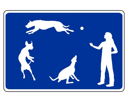 Traffic sign for dogs photo