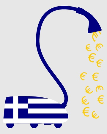 valuta: Greek vacuum cleaner with european euros