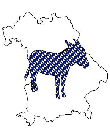 Bavarian donkey Ilustração