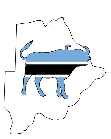 botswana: Botswana buffalo  Illustration