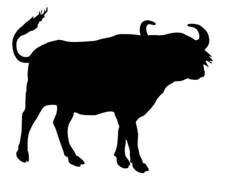 African Buffalo silhouette