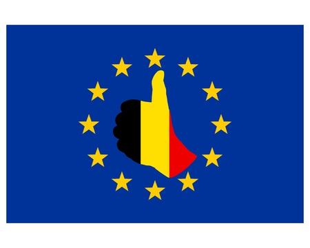 Belgian hand signal Ilustração