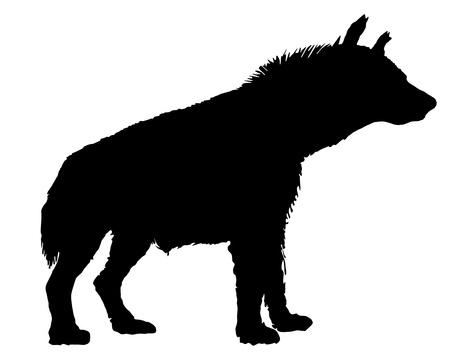 na: Hyena silhouette