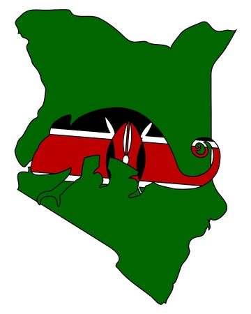 kenya: Kenya Chameleon Illustration
