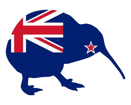 Nieuw-Zeeland kiwi  Stock Illustratie