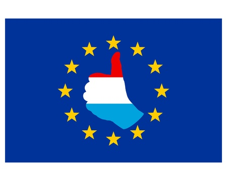 luxembourg: Luxembourg hand signal Stock Photo