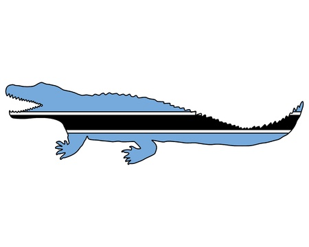nile: Nile crocodile Botswana