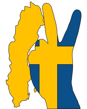 Swedish finger signal photo