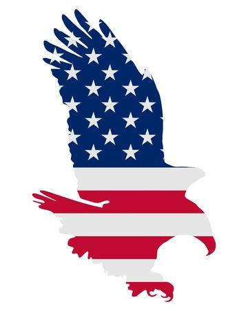 silhouette aquila: American eagle grassetto
